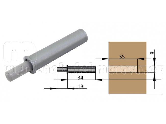 Plynový tlumič průměr 8mm
