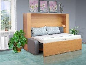 Výklopná postel s pohovkou VS 1061P, 200x140cm